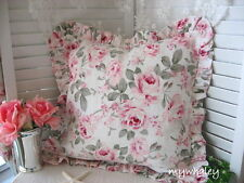 SALE! Rachel Ahswell~Simply Shabby Chic ~ROSALIE ROSES Ruffled TOSS PILLOW NEW!