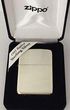 Sterling SIlver Zippo Lighter, Satin Finish, #24, 1941 Replica, New In Box