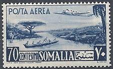 1950-51 SOMALIA AFIS POSTA AEREA AEREO E VEDUTA 70 CENT MNH ** - RR12013