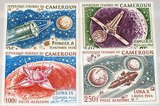 CAMEROUN KAMERUN 1967 502-05 C84-87 Conquest of Moon Erforschung Mond Space MNH