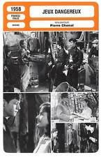 FICHE CINEMA : JEUX DANGEREUX - Servais,Audret,Chenal 1958 Dangerous Games
