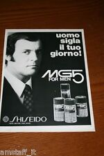 BG25=1972=SHISEIDO MG5 FOR MEN PROFUMO PARFUM=PUBBLICITA'=ADVERTISING=WERBUNG=