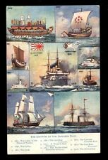 Millitary Growth of Japanese Navy Tuck Oilette 9237 PPC used 1915