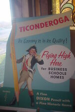 TICONDEROGA FLYING HIGH PENCIL STORE DISPLAY-1955-VINTAGE-MERCANTILE-A-33