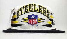 Vintage Deadstock NWT Pittsburgh Steelers Logo Athletic Diamond Snapback Hat Cap