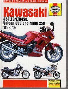 KAWASAKI 454LTD/LTD450, VULCAN 500 & NINJA 250 1987-2007 SERVICE &REPAIR MANUAL