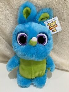 "Disney Pixar Toy Story 4 Bunny Soft Plush Toy Blue 12"" With Tag VGC"
