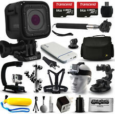 GoPro HERO5 Session Action Camera with 128GB + 17 Piece Accessories Bundle Kit