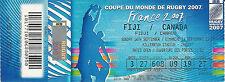 Fiji v Canada 16 Sep 2007 RUGBY WORLD CUP TICKET RWC 2007 Cardiff