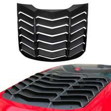 1x Matte Black ABS Rear Window Louver Vent Cover For Ford Mustang 2015 16 17 18