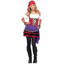 CRYSTAL BALL GYPSY CHILD HALLOWEEN COSTUME JUNIOR GIRLS SIZE SMALL 3-5