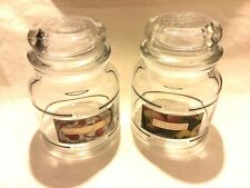 Lot of 2 Empty Yankee candle jars with lids Large