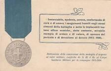 A6500) CORPO SANITARIO MILITARE,  MEDAGLIA AL VALOR MILITARE NELLA WW1. VG.
