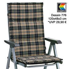 4 X Kettler Auflagen Polster Kissen für Hochlehner Sessel Basic plus Klappsessel