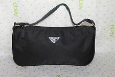 Authentic PRADA Nylon Canvas Pochette Accessory Pouch Bag PP0050