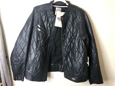 Harley-Davidson Quilted Goatskin Black Leather Womans 1W Jacket 97191-14VW NWT