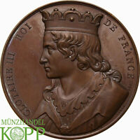 "AB0845) FRANKREICH Bronzemedaille der Suite ""Rois de France"" Clotaire III. 1840"