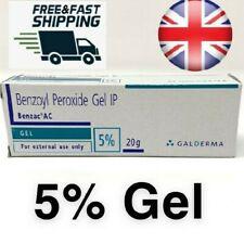 UK Benzoyl Peroxide Gel IP 5% Acne Blackhead Spot Benzac Galderma -20g