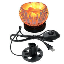 Salt Lamp Electric Power Dimmer Cable Cord Switch E12 Socket Black US Plug