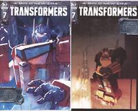 IDW Comics - TRANSFORMERS #7 Cover A,B & C Comic Book Lot (2019) VF/NM