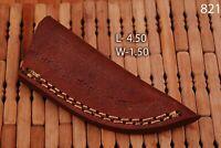 Custom Hand Made Pure Leather Sheath For Fixed Blade Knife - Q 821