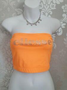 Ellesse Crop Top Orange New Size-10