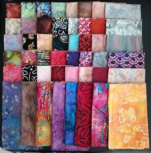 Batik Quilting Fabric, Assorted Patterns, 48 Fat Quarters