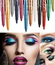 Girl Glitter Lip Liner Eye Shadow Eyeliner Pencil Professional Makeup Set BYCX78