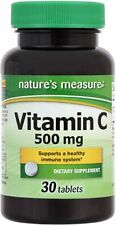 Nature's Measure Vitamin C 500 mg 30 Tablets Antioxidant Immune System EXP 06/22