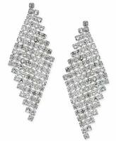 INC International Concepts Silver-Tone Crystal Mesh Kite Drop Earrings, $34