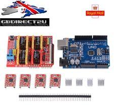CNC Shield V3.0 + UNO R3 + 4pcs A4988 Driver/GRBL Arduino Imprimante 3D TE623 UK