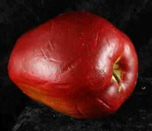 Faux fruit green & red apples x 2 2.5 inches tall decorative item
