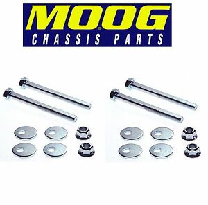 For Jaguar S-Type Ford Pair Set of 2 Front Lower Control Arm Camber Kits Moog