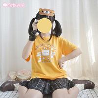 Japanese Sweet Lolita Small Fresh Cute Cat Printed T-shirt Short Sleeve Tee Tops