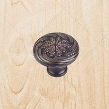"Kitchen Cabinet Hardware Wheat Knobs ku19 Brushed Oil Rubbed Bronze 1-1/8"" diam"