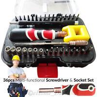 Multi-Functional 36Pcs Screwdriver Metric Hex Socket Bits Set Adjustable Handle