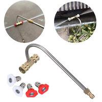 Pressure Washer Gutter Cleaner Attachment with 4 Spray Nozzle Tips