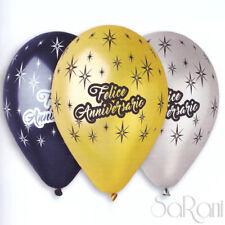 Palloncini Felice Anniversario 10pz Palloni Festa Party Decorazioni Addobbi 30cm