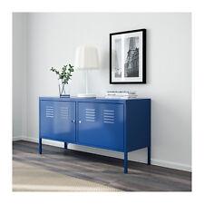 Blue Metal Locker Entertainment TV Storage Unit Cabinet Stand Living  Lockable