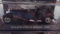 "DIE CAST "" BUGATTI TYPE 41 ROYALE - 1929 "" AUTO FRANCESI SCALA 1/43"