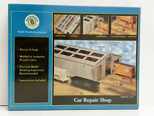 "BACHMANN N SCALE U/A ""CAR REPAIR SHOP"" PLASTIC MODEL KIT #15159"