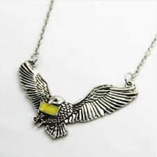 HEDWIG OWL Harry Potter Pendant Chain Necklace Magic Wizard Fantasy Cosplay
