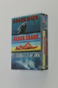 Shark Week - Beach Shark - Jurassic Shark Pack 3 Dvd's Movies, Language French