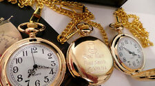 3 THREE 24ct GOLD WEDDING POCKET WATCH GROOM USHER FATHER OF THE BRIDE ENGRAVED