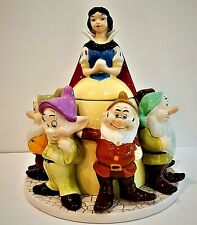 🌺 New~Disney Authentic~Snow White & 7 Dwarfs~Large Cookie Jar~New with Tags