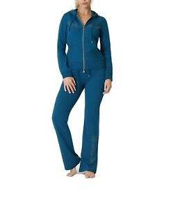 BCBG MAXAZRIA, Branded Logo Hoodie & Pant Set BC13347J/P Moroccan Blue