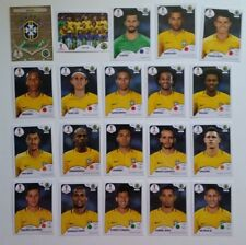 BRAZIL Neymar  Panini Fifa Soccer World Cup Russia 2018 Team Set 20 Stickers