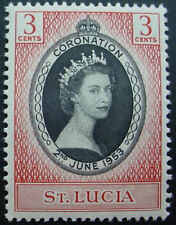 ST LUCIA 1953: CORONATION OF QUEEN ELIZABETH II;  MNH STAMP