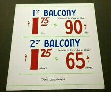 VINTAGE 1950's CHICAGO STADIUM LOBBY TICKETS PRICE SIGN POSTER STAGS BLACKHAWKS