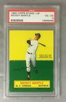 1964 TOPPS STAND UP MICKEY MANTLE YANKEES NEW YORK HOF CARD PSA 4 VG-EX
